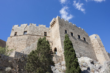 the castle of Lindos, Rhodes Island