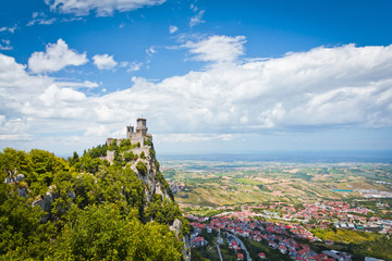 Rocca della Guaita, the most ancient fortress of San Marino, Ita