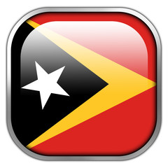 East Timor Flag square glossy button