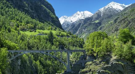 old bridge  above the gorge