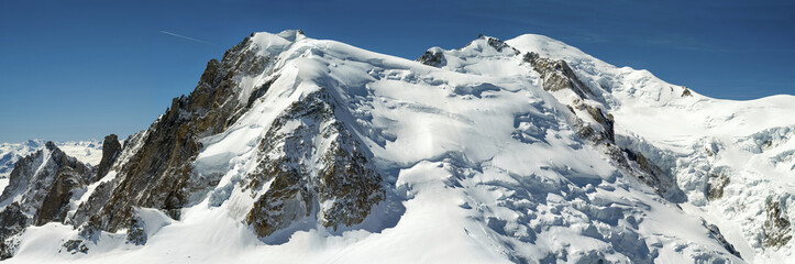 view to Mount-Blanc from Agui Di Medi in Chamonix France