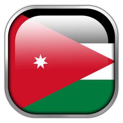 Jordan Flag square glossy button
