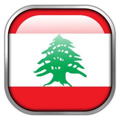Lebanon Flag square glossy button