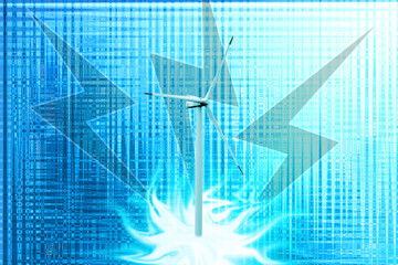Abstrack blue backgrounds with inconspicuous shine, windmills