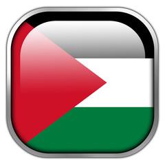 Palestine Flag square glossy button