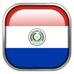 Paraguay Flag square glossy button