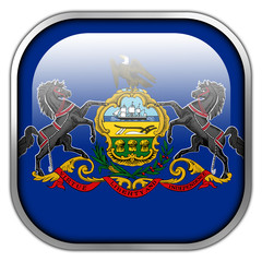 Pennsylvania State Flag square glossy button