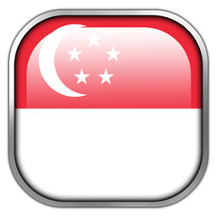 Singapore Flag square glossy button