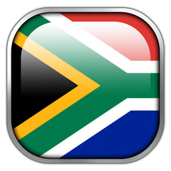 South Africa Flag square glossy button