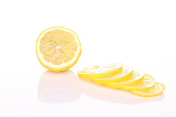 Lemon Portion On White with shadow