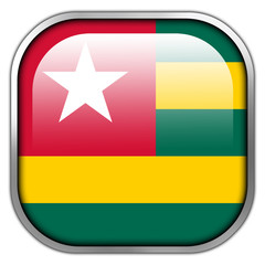 Togo Flag square glossy button