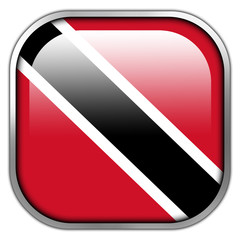 Trinidad and Tobago Flag square glossy button