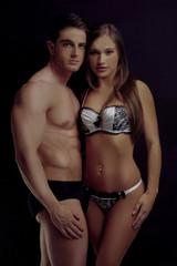 Perfect Body Couple on Mini Underwear
