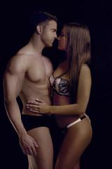 Perfect Body Couple Sensually Pose