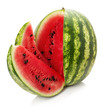 watermelon with slice isolated on the white background