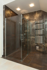 Luxurious shower in the bathroom