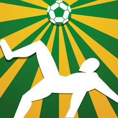 Soccer Stylish Illustration Isolated On Background