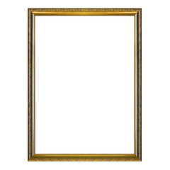 Antique frame isolated on the white background