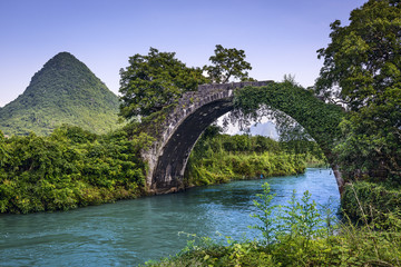 Dragon Bridge in Guilin, China