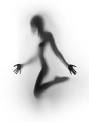 Beautiful female human body silhouette