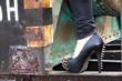canvas print picture - High Heels mit Stacheln