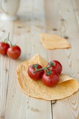 Wrap mit Tomaten