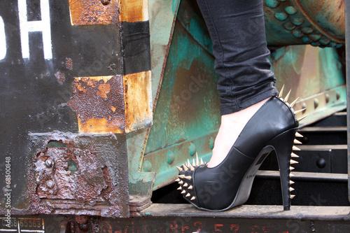canvas print picture High Heels mit Stacheln