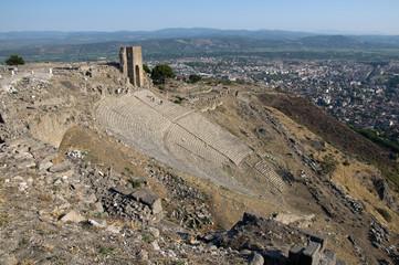 Temple of Trajan at Acropolis of Pergamon in Izmir, Turkey