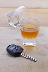 Shot glass with car keys