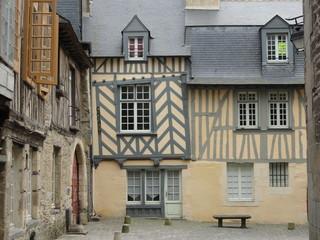Rue de la Psalette dans le vieux Rennes (Ille-et-Vilaine)