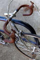 Leather handlebar of an old vintage bike