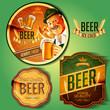 badges vintage beer