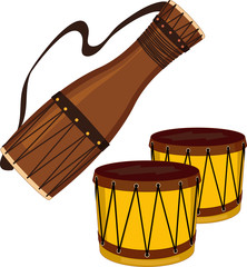 Bata and bongo drums