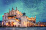 Rynek główny w Krakowie w stylu retro. - 68502809