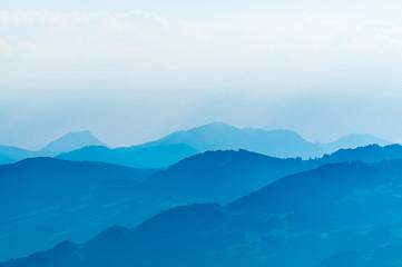 Alpen, Panorama, diesig, Luftfeuchtigkeit, CH, Säntis