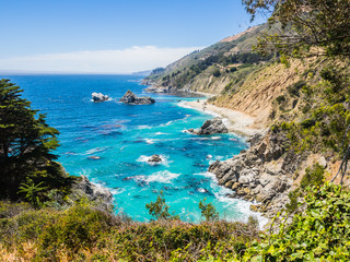 Pacific Coastline along Highway 1, Big Sur, CA, USA