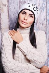 мода, зима, шапка