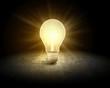 canvas print picture - Light bulb