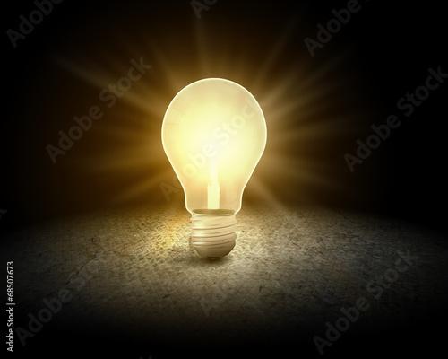canvas print picture Light bulb