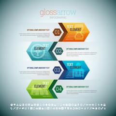 Gloss Arrow Infographic