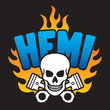 Постер, плакат: Hemi Skull and Pistons