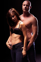 Very Sexy Couple Flaunting Flat Abs