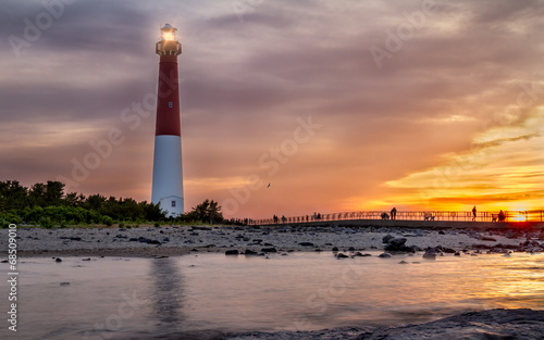Sunset over Barnegat Lighthouse