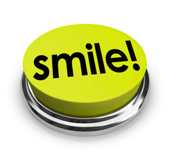 Smile Word Yellow Button Funny Humor Good Spirits