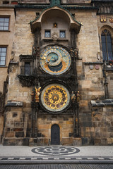 Astronomical clock in Prague, Czech Republic.