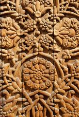 wooden flower ornament