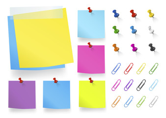 Vector of Colorful Office Supplies