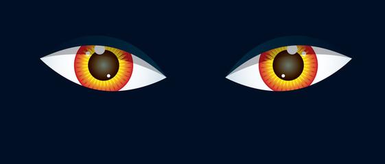 Eyes on black