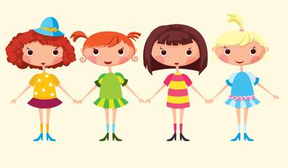 Cartoon girls