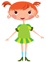 Cartoon little girl